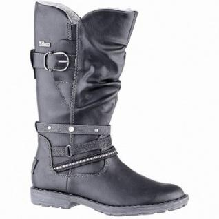 s.Oliver Mädchen Leder Imitat Winter Tex Stiefel black, 26 cm Schaft, Warmfutter, weiches Soft Foam Fußbett, 3739227/33