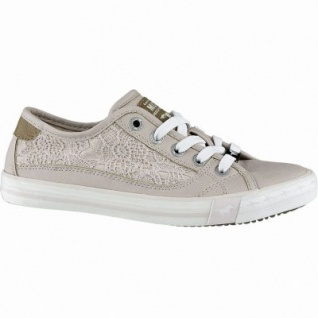 Mustang coole Mädchen Synthetik Macrame Sneakers Low rose, Mustang-Laufsohle, weiche Decksohle, 3340166/38