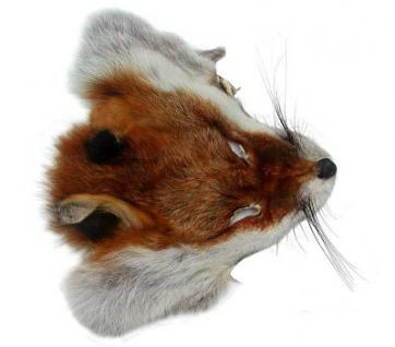 Fuchskopffell vom Rotfuchs, als Accessoires, für Deko, Basteln, ca. 17x19 cm, Rotfuchs Kopffell