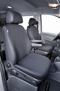 Passform Sitzbezüge Mercedes Vito W638+W639, passgenauer Stoff Sitzbezug 2 Einzelsitze f. Armlehne innen, ab Bj. 06/2003-05/2014