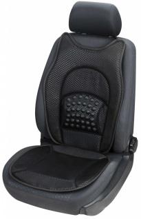 weiche Universal Auto Sitzauflage New Space schwarz, hohes Rückenteil, 36 Mas...