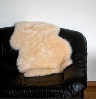 australische Lammfelle beige gefärbt waschbar, Haarlänge ca. 70 mm, ca. 110x7...