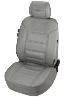 ZIPP IT Universal Echt Leder Auto Sitzbezug grau, RV System, Leder Auto Schon...