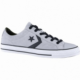 Converse Star Player - OX coole Herren Leder Sneakers wolf grey, Converse Laufsohle, 2140111/48