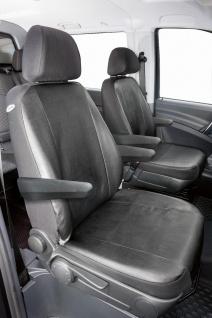 Passform Sitzbezüge Mercedes Vito W639, passgenauer Kunstleder Sitzbezug 2 Ei...