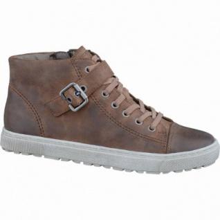 Soft Line coole Damen Fettvelour Sneakers cognac, Extra Weite H, Kaltfutter, Soft Line-Fußbett, 1337104/36