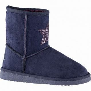Canadians coole Mädchen Winter Synthetik Boots navy, 15 cm Schaft, molliges Warmfutter, warmes Fußbett, 3741190/37