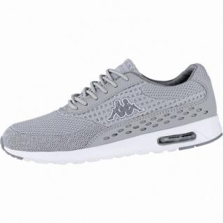 Kappa Milla Sun modische Damen Textil Synthetik Sneakers grey, herausnehmbares Kappa Fußbett, 4240118