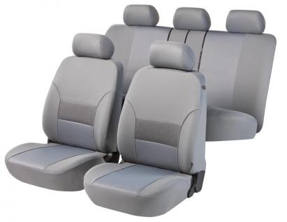 Komplett Set Universal Polyester Jersey Auto Sitzbezüge grau 8-teilig, 30 Gra...