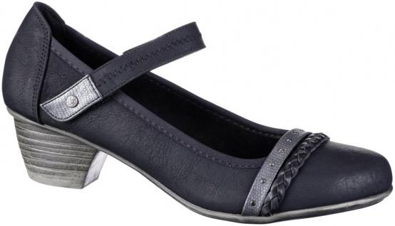 JANE KLAIN Damen Leder Imitat Pumps black, weiche Super Soft Decksohle