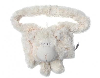 niedlicher warmer Kinder Muff Schaf weiß aus Microfaser für warme Kinder Händ...