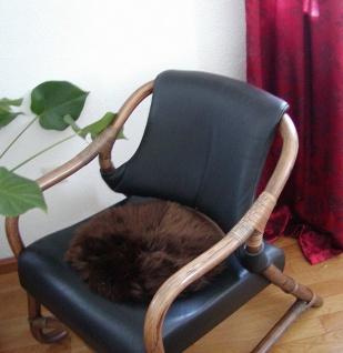 runde Sitzauflage aus australischen Lammfellen, Fellkissen braun, Ø ca. 45 cm...