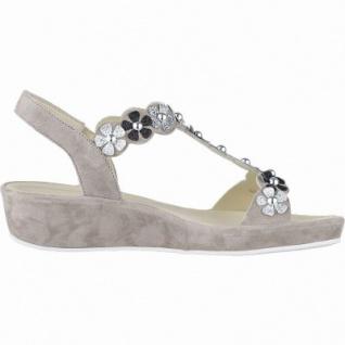 Ara Capri-Highsoft modische Damen Leder Sandalen taupe, weiches Fußbett, Comfort Weite G, 1542116/37 - Vorschau 2