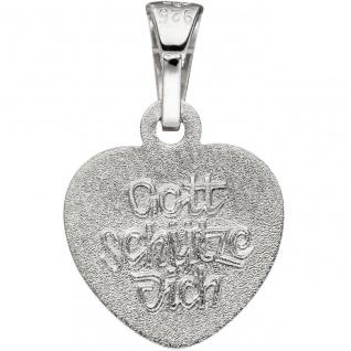 Anhänger Kleines Herz Herzchen Schutzengel 925 Sterling Silber mit Kette 38 cm - Vorschau 5