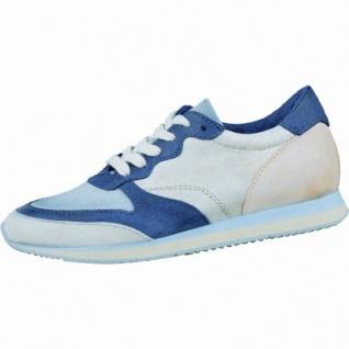 CoCama & Me sportlicher Damen Leder Sneaker bianco-galaxy-iceberg, Lederdecksohle, 1236146