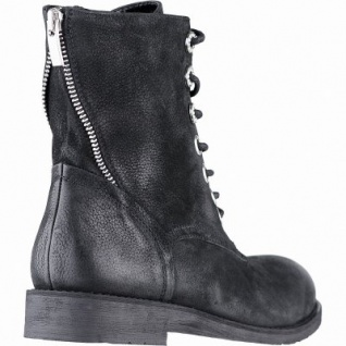 SPM modische Damen Leder Boots schwarz, angerautes Futter, weiches Memory Foam Fußbett, 164135338
