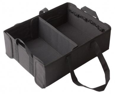 flexible Universal Polyester Kofferraum Box mit Klett schwarz, 47x36x15 cm, A...