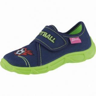 Beck Football Jungen Textil Hausschuhe dunkelblau, anatomisches Fußbett, 3838102/34