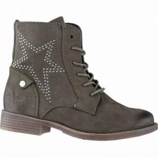TOM TAILOR Mädchen Winter Leder Imitat Boots khaki, 12 cm Schaft, Fleecefutter, weiches Fußbett, 3741161/36