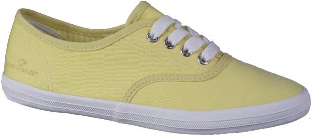 TOM TAILOR Damen Textil Sneakers yellow, Textilfutter, weiche Decksohle