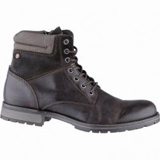 Jack&Jones JFW Zachary Herren Leder Boots brownstone, 13 cm Schaft, Textilfutter, herausnehmbare Einlegesohle, 2541101