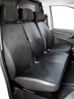 Passform Sitzbezüge Mercedes Viano W639, passgenauer Kunstleder Sitzbezug Einzelsitz+Doppelbank, Bj. 06/2003-05/2014