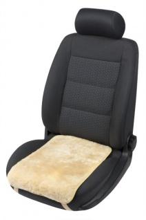 weiches Lammfell Auto Sitzkissen Molly beige, Lammfell Sitzauflage, ca. 55x36 cm