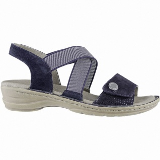 Ara Hawaii stylishe Damen Leder Sandalen blau, Comfort Weite G