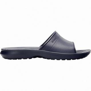 Crocs Classic Slide bequeme Damen, Herren Pantoletten navy, weiche Laufsohle, 4340113
