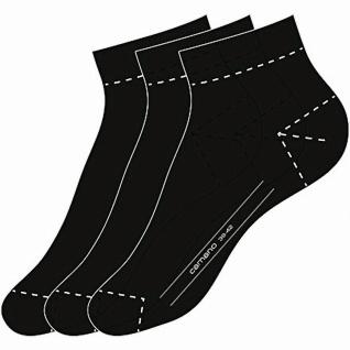 Camano Basic NOS Ca-Soft Quarter 3er Pack Damen, Herren Socken black