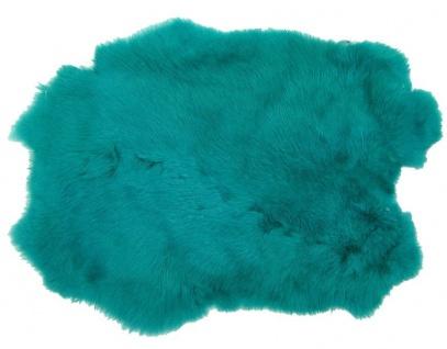 Kaninchenfelle türkis gefärbt, ca. 30x30 cm, Felle vom Kaninchen mit seidigem...