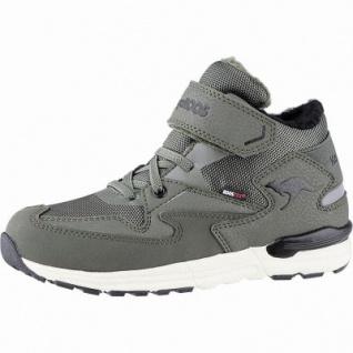 Kangaroos Snibo EV RTX Jungen Winter Tex Sneakers olive, 7 cm Schaft, Warmfutter, warmes Fußbett, Laschen Tasche, 3741252