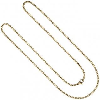 Halskette Kette Ankerkette Edelstahl gold farben beschichtet 80 cm