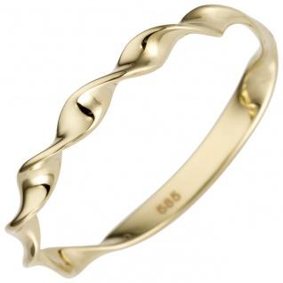 Damen Ring gedreht 585 Gold Gelbgold Goldring