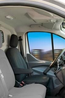 Passform Transporter Sitzbezüge Ford Transit, passgenauer Sitzbezug Einzelsitz, Jacquard Stoff, ab Bj. 05/2014