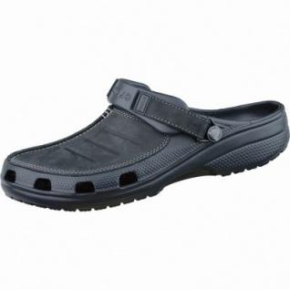 Crocs Yukon Mesa Herren Clogs schwarz, mit Leder verarbeitet, verstellbarer Fersenriemen, 4337109/41-42 - Vorschau 1