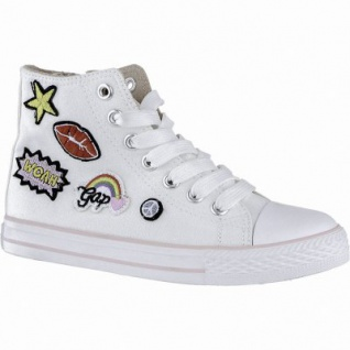 Canadians coole Mädchen Glamour Synthetik Sneakers High white, weiches Fußbett, 3340141