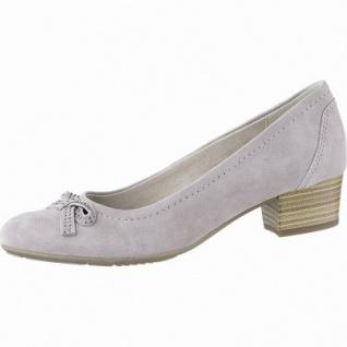 Jana modische Damen Leder Pumps grey, weiches Leder Fußbett, Soft Flex System, Extra Weite H, 1142116/4.0
