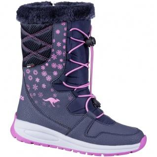 KANGAROOS K-Glaze RTX Mädchen Winter Synthetik Boots navy, molliges Warmfutte...