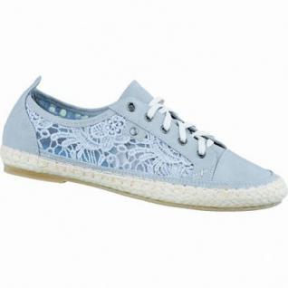Jane Klain coole Damen Sneaker light grey, Synthetik mit Macramé, Bastsohle, weiche Decksohle, 1236200