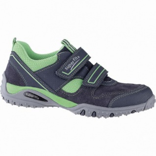 Superfit Jungen Leder Sneaker blau, mittlere Weite, Meshfutter, herausnehmbares Fußbett, 3341106/28
