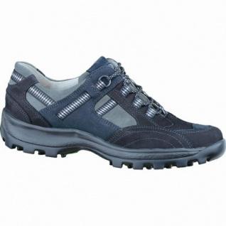 Waldläufer Holly sportliche Damen Leder Trekking Schuhe schwarz, für lose Einlagen, Extra Weite H, 1338165