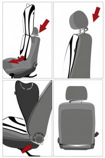 weiche Universal Auto Sitzauflage New Space grau, hohes Rückenteil, 36 Massag... - Vorschau 5