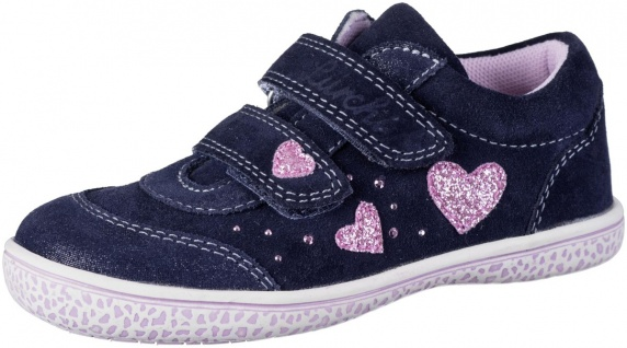 LURCHI Tanita Mädchen Leder Sneakers navy, mittlere Weite, Lurchi Leder Fußbett