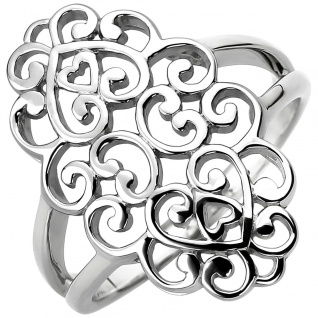 breiter Damen Ring 925er Sterling Silber ohne Steine, Breite ca. 25, 2 mm, Sil...