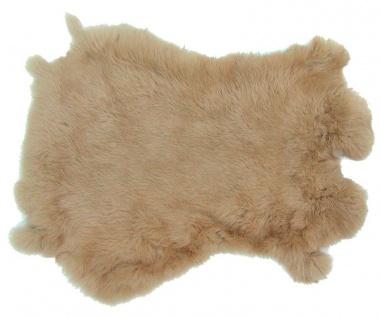 Kaninchenfelle beige gefärbt, ca. 30x30 cm, Felle vom Kaninchen mit seidigem ...