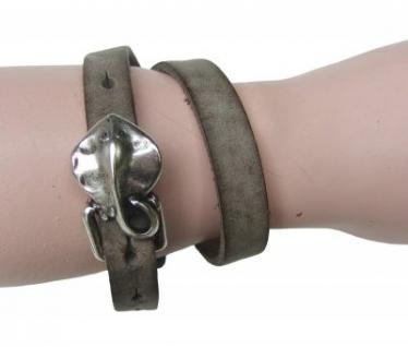 Boom Belts Wechselschließe Rochen silber für Damen, Herren Leder Armbänder mit 1 cm Breite