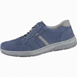 Waldläufer Hadrian Herren Leder Halbschuhe jeans, Waldläufer Leder Fußbett, Extra Weite, 2238111