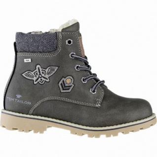 TOM TAILOR Jungen Leder Imitat Winter Tex Boots khaki, 11 cm Schaft, molliges Warmfutter, warmes Fußbett, 3741155/40