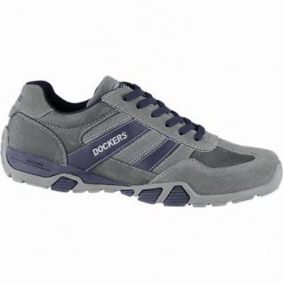Dockers sportliche Herren Leder Sneakers grau, weiches Fußbett, Dockers Laufsohle, 2140170